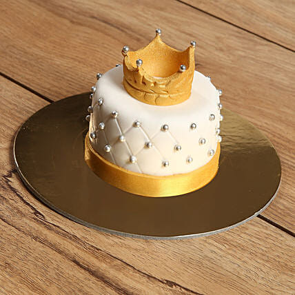 Designer Crowned Mono Cake:All Gifts