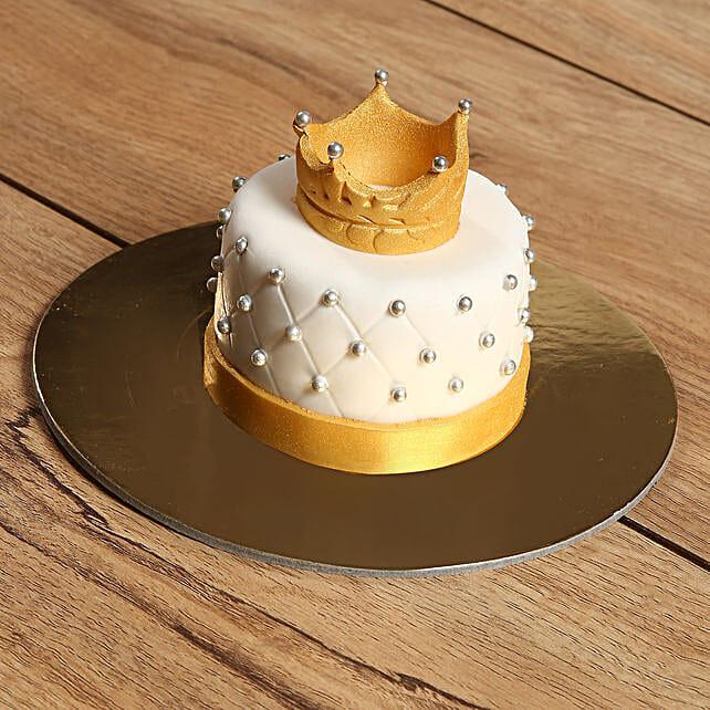 Designer Crowned Mono Cake:Send Cakes to UAE