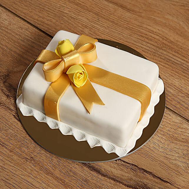 Designer Gift Wrapped Mono Cake:Send Cakes to UAE