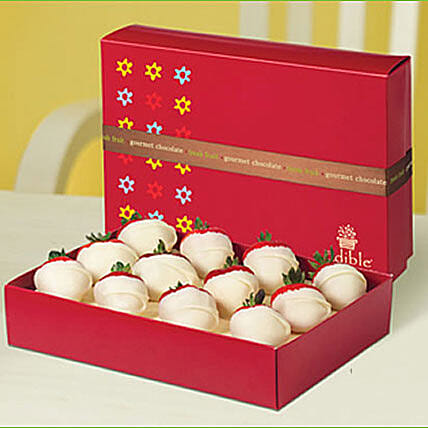 Dipped Strawberries All White