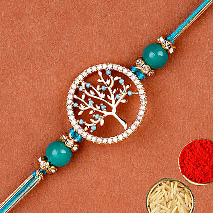 Divine Blue Tree Of Life Rakhi