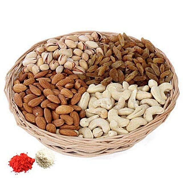 Dry Fruits Mix for Bhai Dooj:Send Bhai Dooj Dry Fruits to UAE