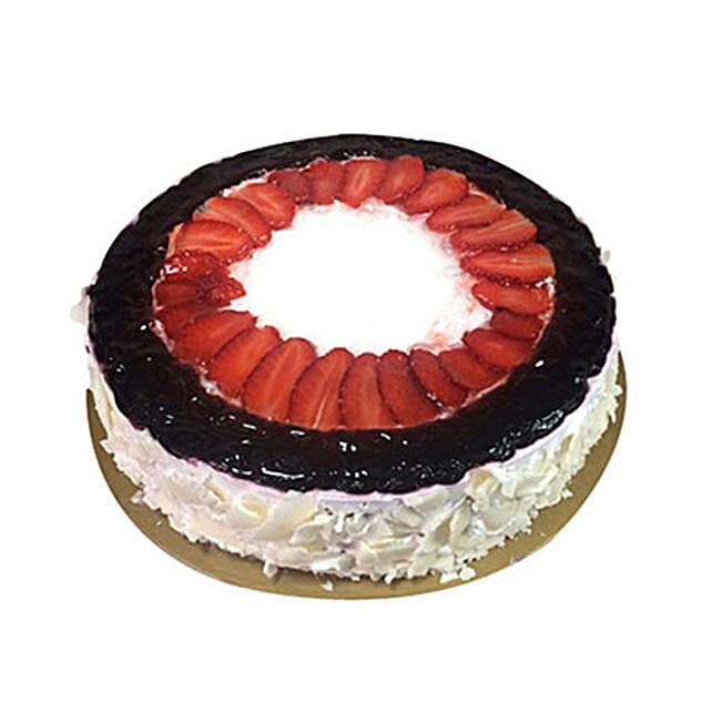 Eggless Mixed Berry Cake