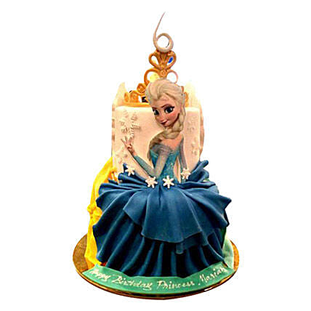 Elsa Princess Cake