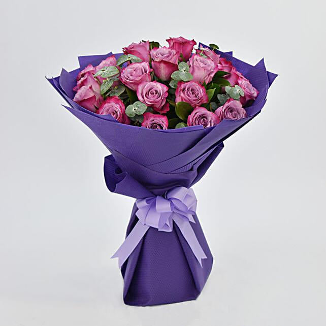 Eternal 20 Purple Roses Bouquet