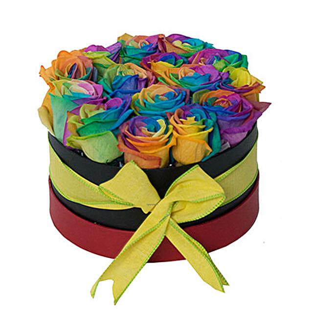 Fresh Rainbow Rose Box