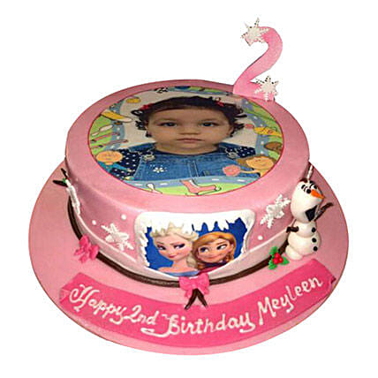 Frozen Photo Cake:Photo Cake Delivery in UAE