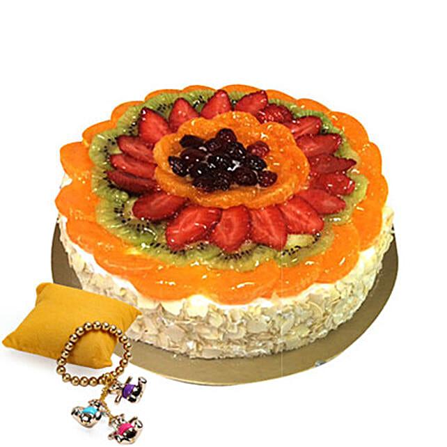 Fruit Cake with Rakhi
