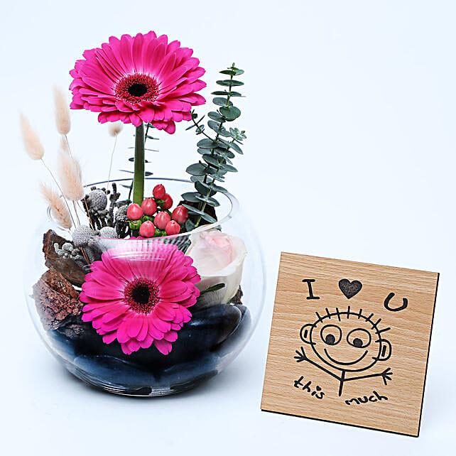 Gerberas Dish Garden N Table Top:Gift Combos to UAE
