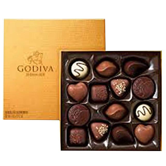 Godiva Gold Rigid Chocolate Box 14 Pcs