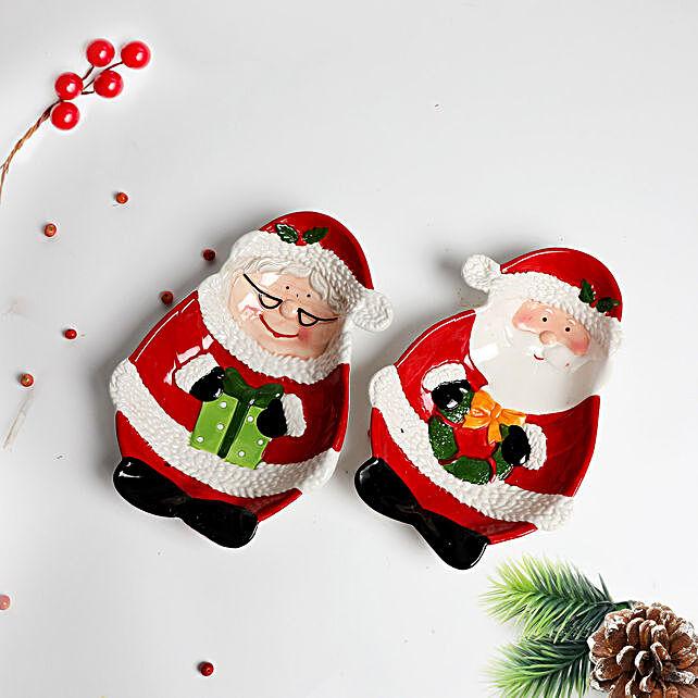 Happy Santa Christmas Trays