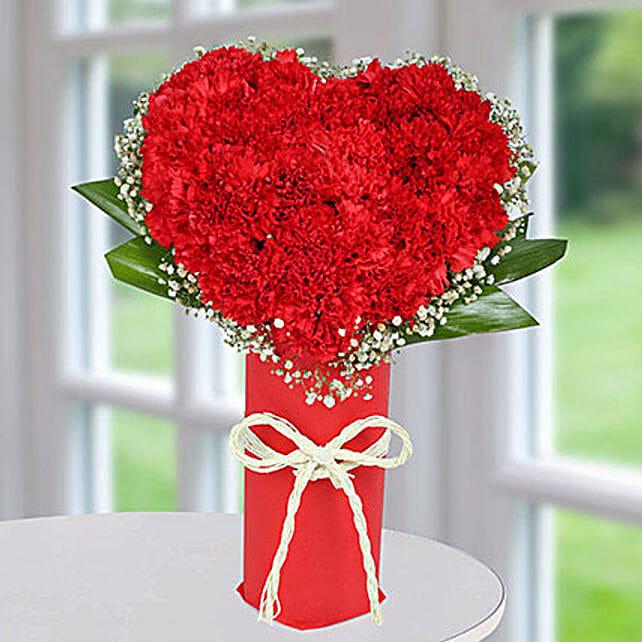 Heart Arrangement Of Carnations