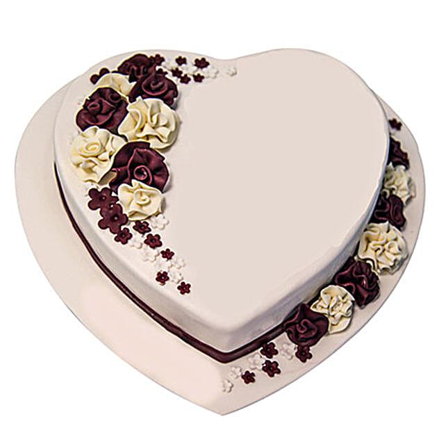 Heartshape Marble Cake