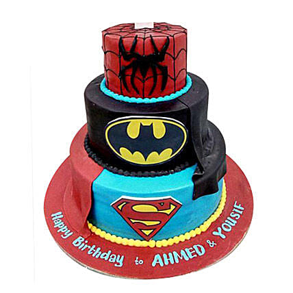 Heroes Combined Cake