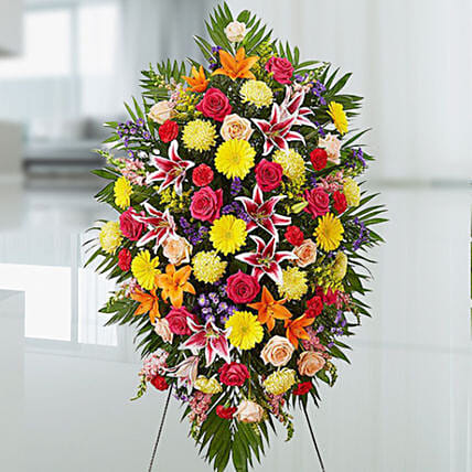 Mixed Flower Stand