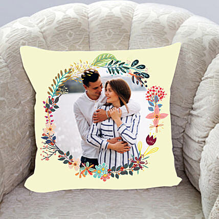 Moments To Remember Personalised Cushion:Send Anniversary Gifts to UAE