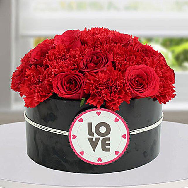 Passionate Red Flower Arrangement