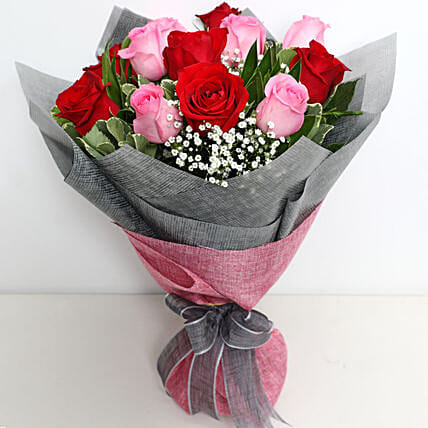 Pink and Red Roses Grand Bouquet