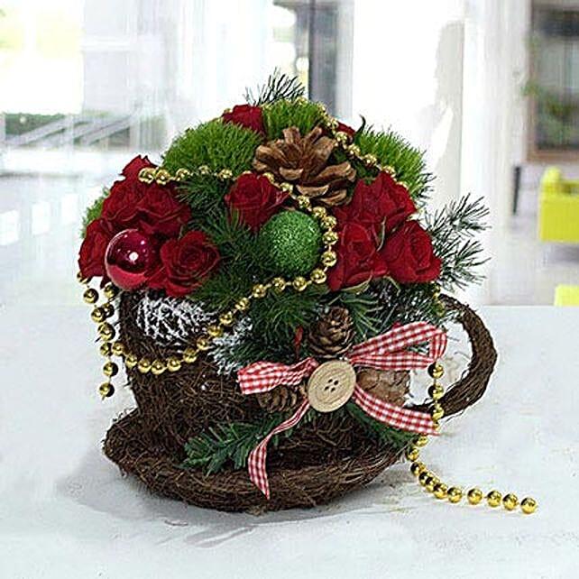 Pleasant Christmas Flower Arrangement