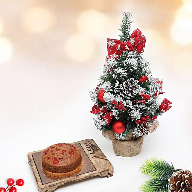 Plum Tea Cake and Christmas Tree Combo