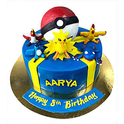 Pokemon at one place Cake