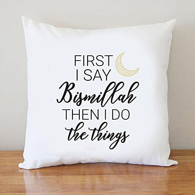 Ramadan Slogan Cushion Online