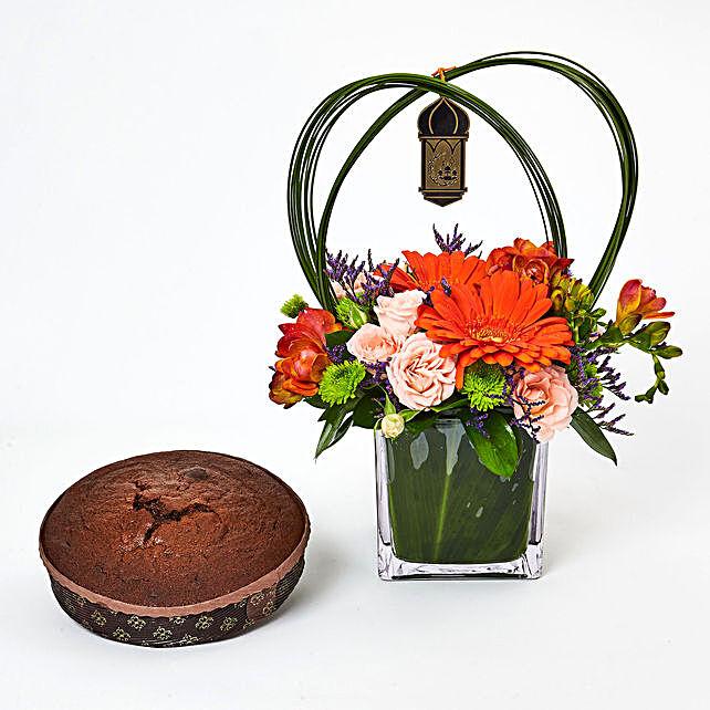 Ramadan Special Flowers N Cake:Send Ramadan Gifts to UAE