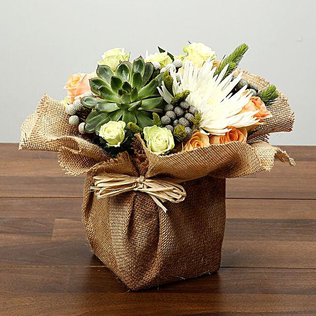 Roses and Delistar Flower Arrangement