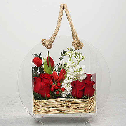 Roses and Tulips Flower Arrangement