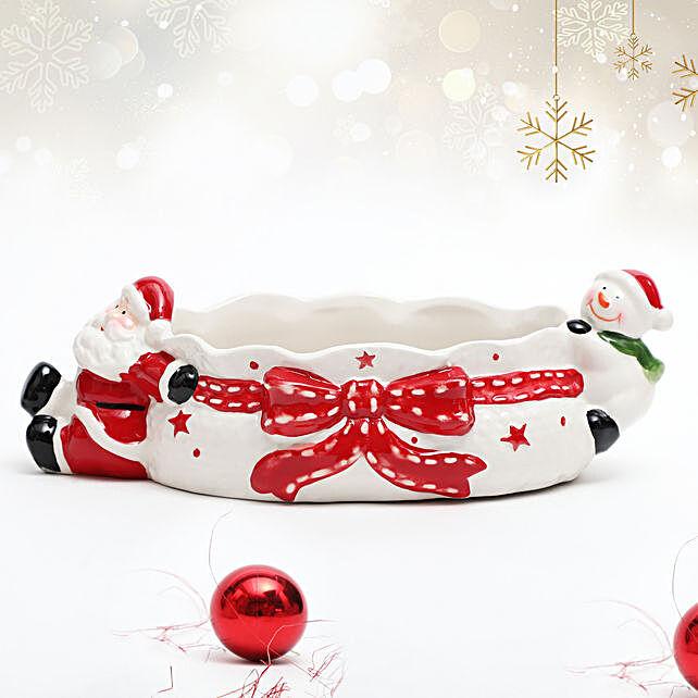 Santa and Snowman Bowl