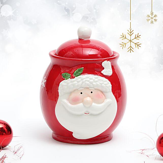 Set of 2 Ceramic Santa Pot