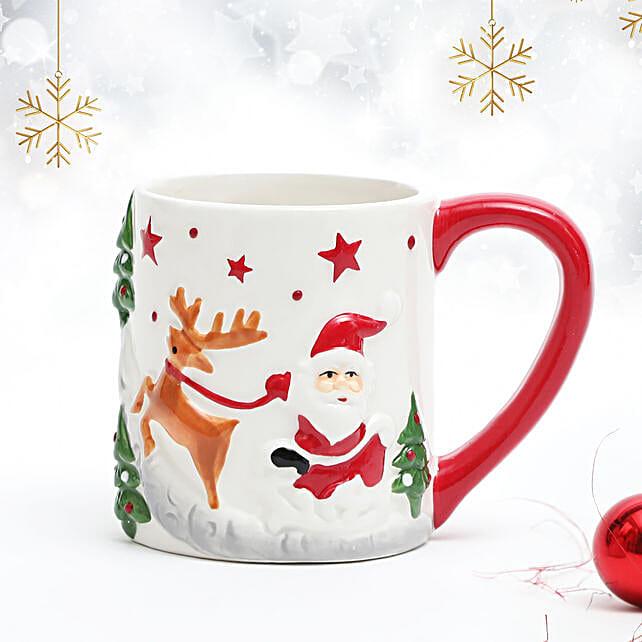 Set of 2 Embossed Christmas Mug