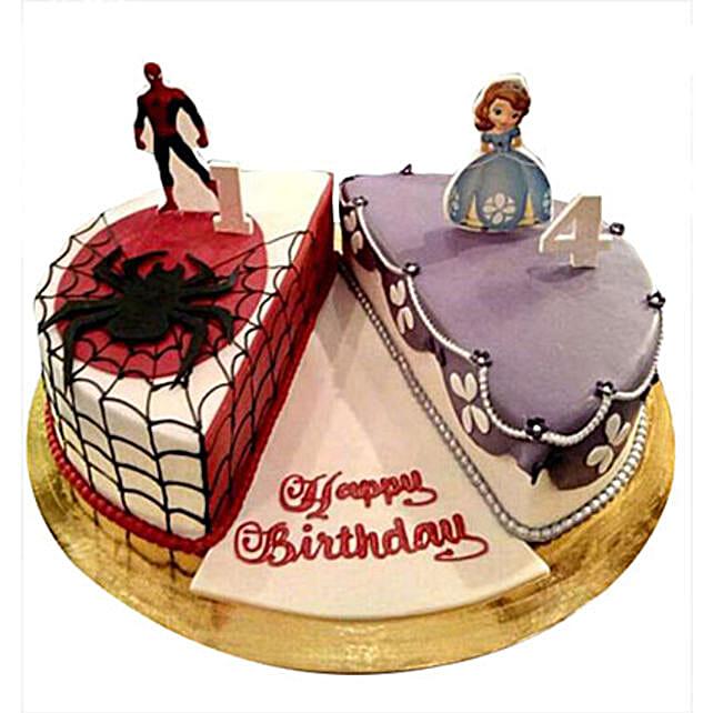 Sofia Spider Man Cake