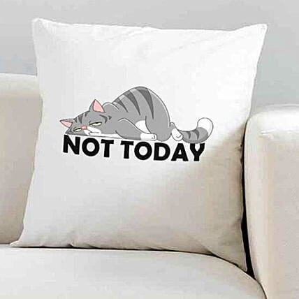 Today is Rest Day Printed Cushion