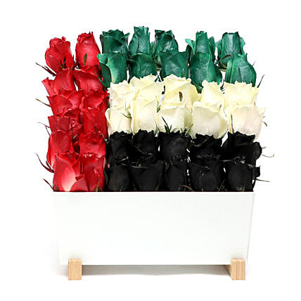 UAE Flag Roses Arrangement