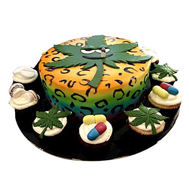 Anniversary Cake with Cupcakes