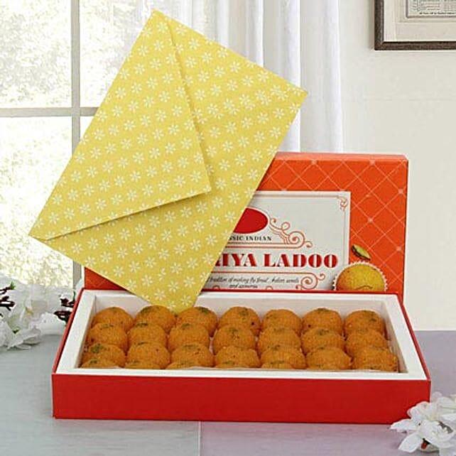 Box of Motichoor Laddoo