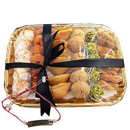 Deluxe Sweet N Savory Tray with Friendship Band