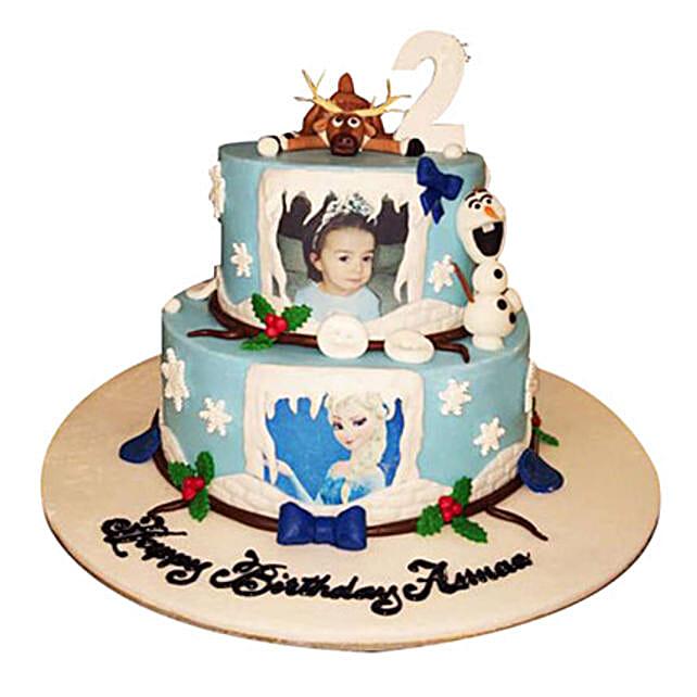 Elsa theme Cake