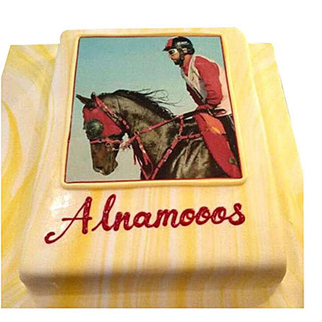 Horse Racing Photo Cake