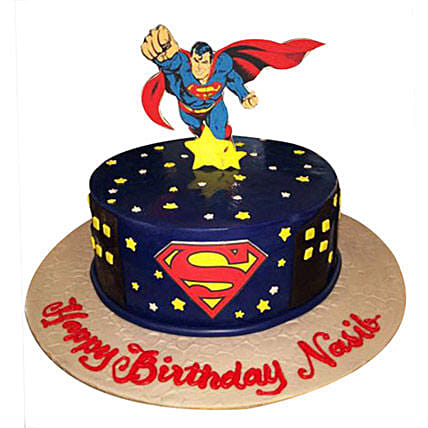 Superman Cakes:Cartoon Cake Delivery in UAE