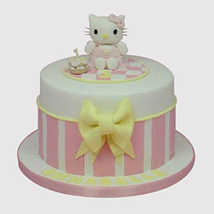 Excellent Hello Kitty Birthday Marble Cake In Uae Gift Hello Kitty Birthday Personalised Birthday Cards Cominlily Jamesorg