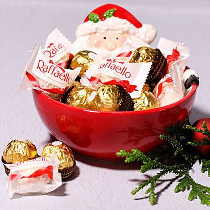 Santas Bowl Of Chocolates