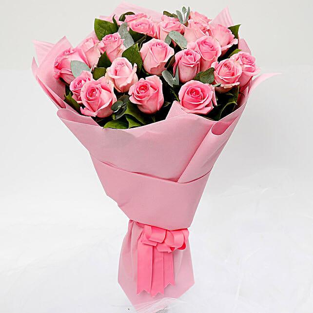Ravishing Bouquet of 20 Pink Roses
