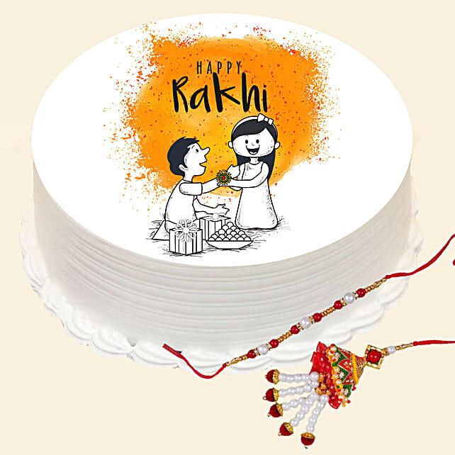 Lumba Set and Happy Rakhi Cake