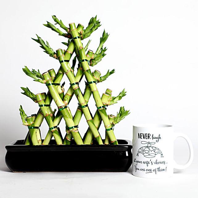 Triangle Shape Bamboo with Mug