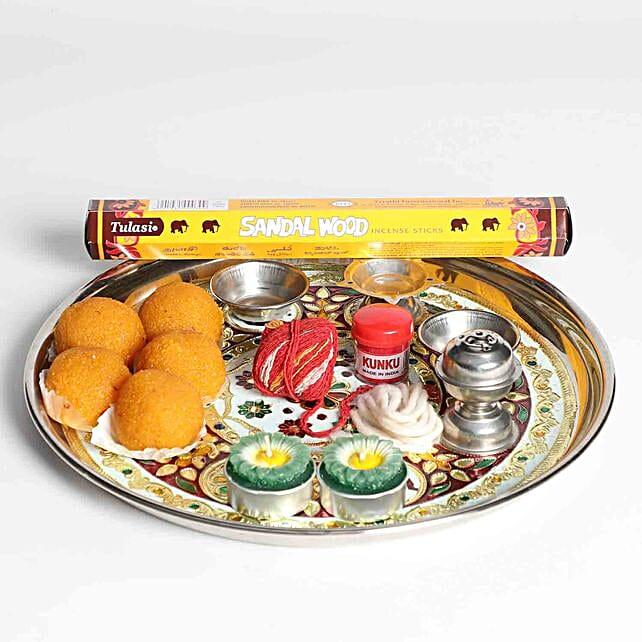 Spiritual Thali With Sweets