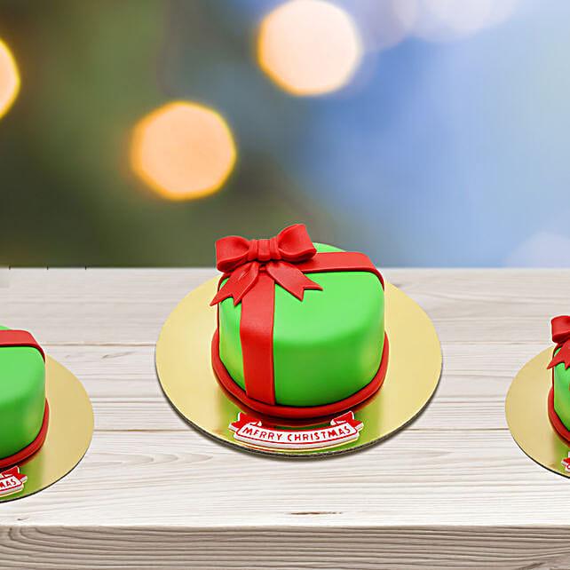 Christmas Gift Wrapped Mono Cake