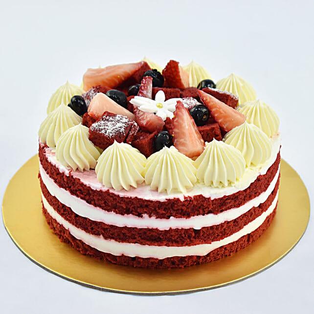 Red Velvet Cake 4 Portions:Cake Delivery In UAE