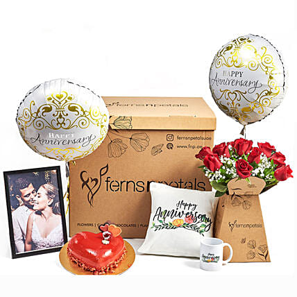 Surprise Anniversary Wishes Box:Balloons